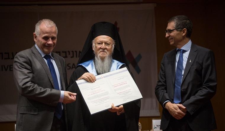 Holiness Bartholomew I receives Hon. Doctorate