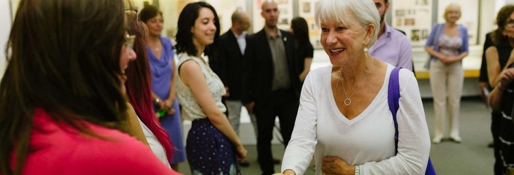 Helen Mirren visits HU