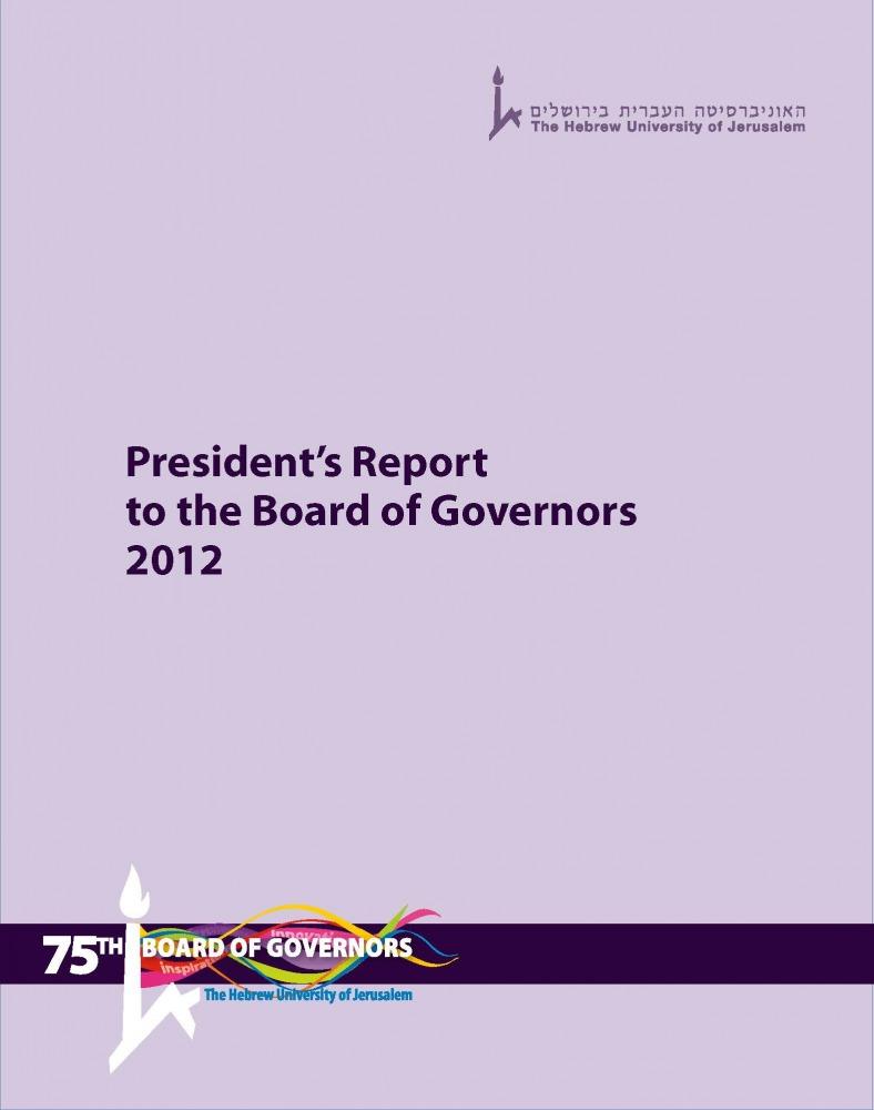 Presidents Report 2012