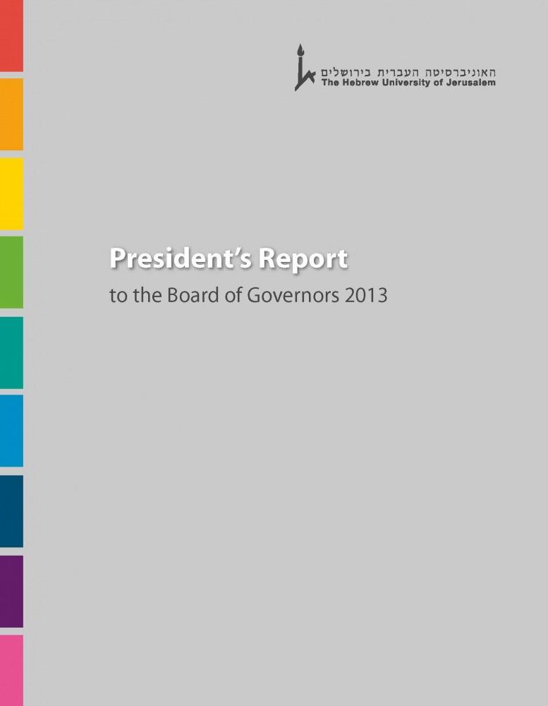 Presidents Report 2013