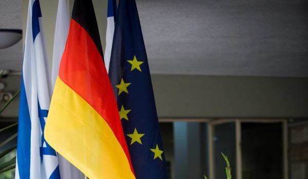German and Israeli Flag